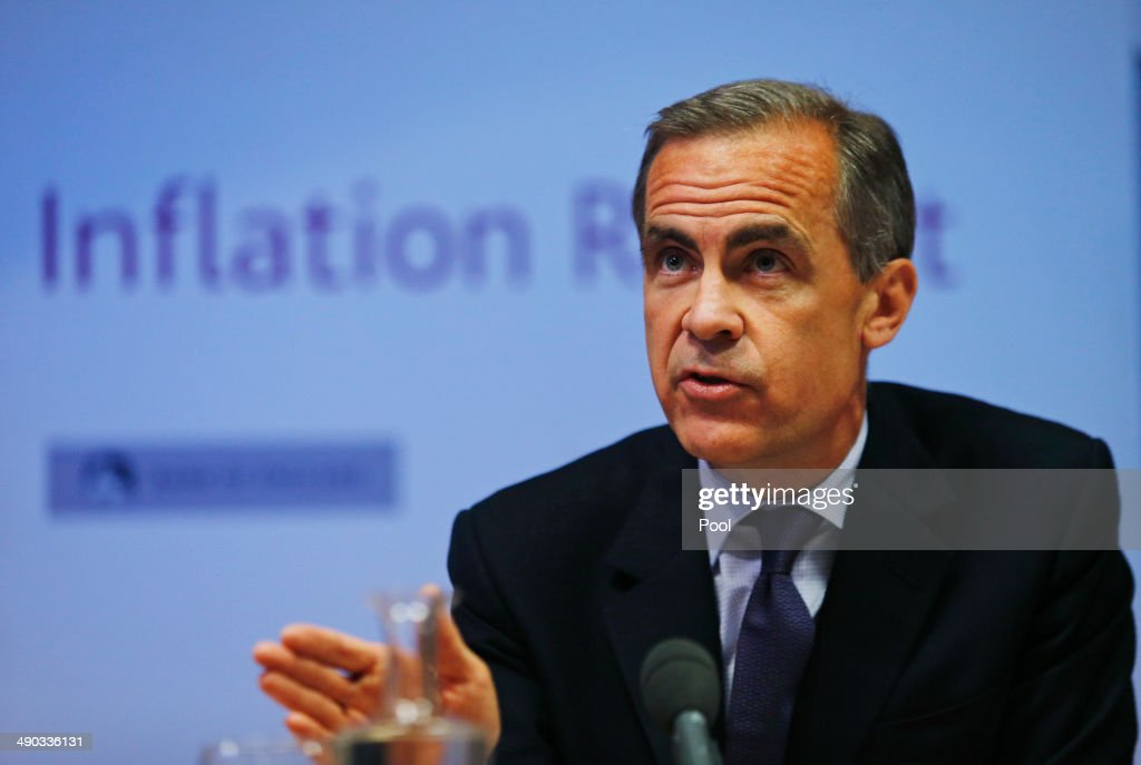 <a gi-track='captionPersonalityLinkClicked' href=/galleries/search?phrase=Mark+Carney&family=editorial&specificpeople=3028157 ng-click='$event.stopPropagation()'>Mark Carney</a>, the Governor of the Bank of England, speaks during a news conference to present the UK Quarterly Inflation Report on May 14, 2014 in London, England. The bank of England stated that interest rates will remain low for 'some time', a move to reassure againt fears of rising mortgage costs. Mr Carney also pledged to examine the issue of mortgage affordability surrounding falling wages.