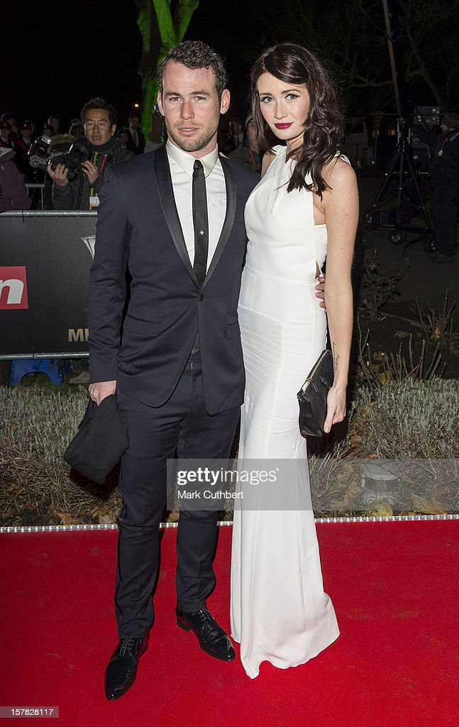 Mark Cavendish and Peta Todd attend the Sun Military Awards at Imperial War Museum on December 6, 2012 in London, England.