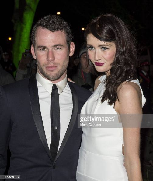 Mark Cavendish and Peta Todd attend the Sun Military Awards at Imperial War Museum on December 6 2012 in London England