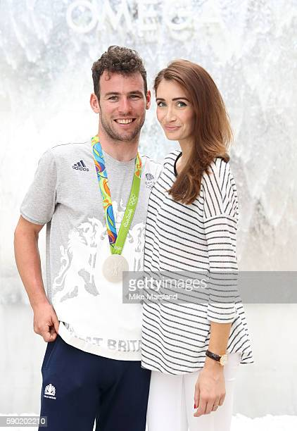 Mark Cavendish of Team GB and his wife Peta Todd pictured at OMEGA House Rio on August 16 2016 in Rio de Janeiro Brazil