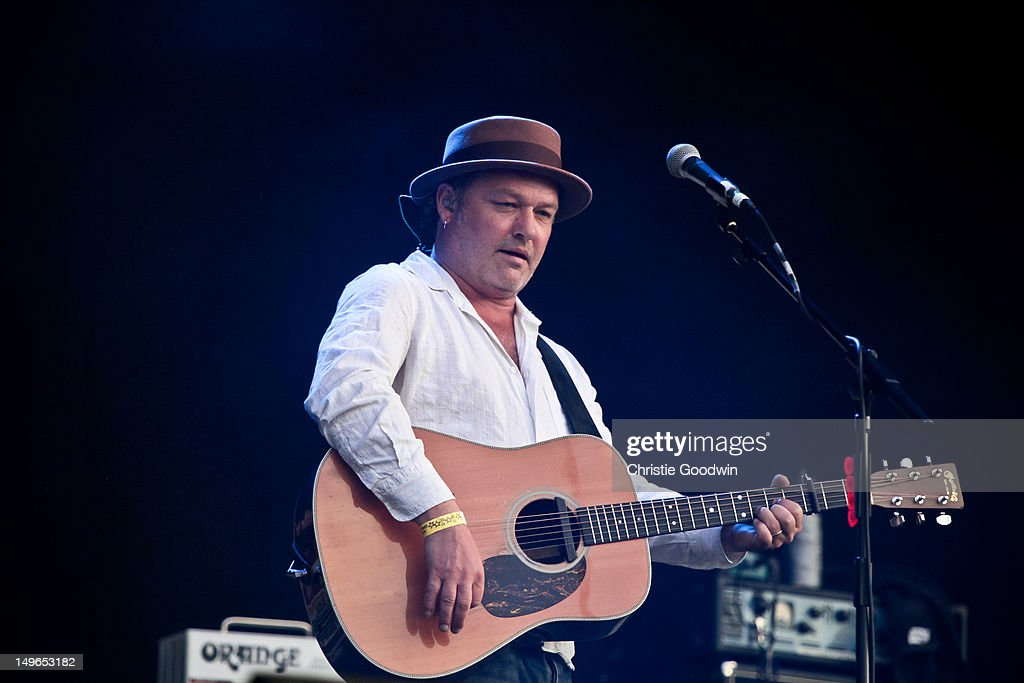 Mark Chadwick of The Levellers performs on stage during BT London Live at Hyde Park on August 1, 2012 in London, United Kingdom.