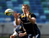 Mark Chisholm catches the ball during an Australian Wallabies training session held at the Moses Mabhida Stadium on September 1 2010 in Durban South...