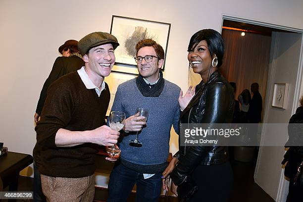 Mark Cirillo Tom Lenk and Dee Wilson attend the Camerich LA's Chinese New Year benefit for Project Angel Food on February 4 2014 in Beverly Hills...