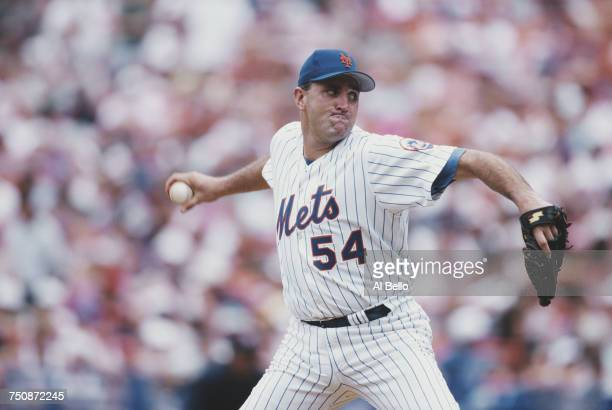 Mark Clark of the New York Mets prepares to throw a pitch during the Major League Baseball Interleague game against the Boston Red Sox on 14 June...