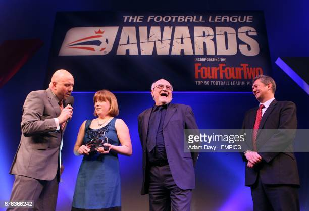Mark Clemmit talks to Brighton and Hove Albion's Disability Football Development Manager Teresa Sanders Community Scheme Manager Dick Knight and...