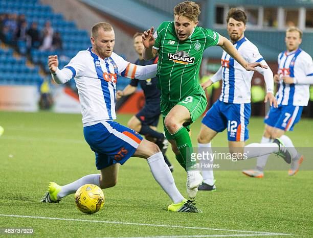 Mark Connolly of Kilmarnock James Forrest of Celtic and Darryl Westlake of Kilmarnock in action during the Scottish premiership match between...