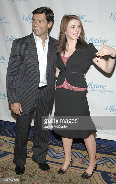 Mark Consuelos and Caterina Scorsone during 2005/2006 Lifetime Television UpFront at Grand Hyatt Hotel in New York City New York United States