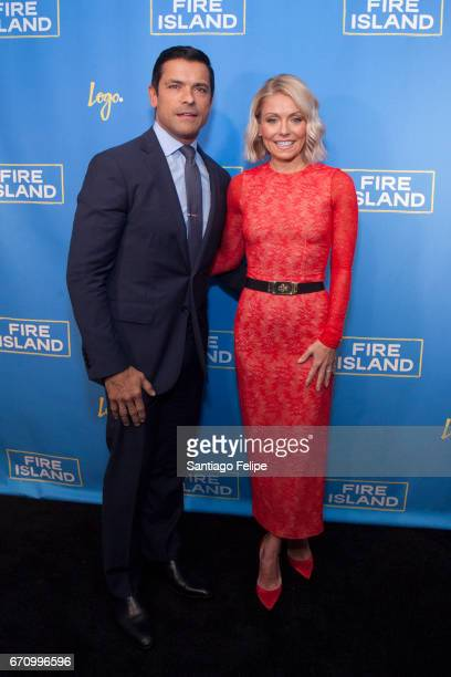 Mark Consuelos and Kelly Pipa attend Logo TV Fire Island Premiere Party at Atlas Social Club on April 20 2017 in New York City