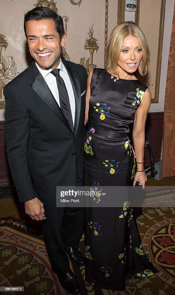 Mark Consuelos and Kelly Ripa attend the Broadcasting and Cable 23rd Annual Hall of Fame Awards Dinner at The Waldorf Astoria on October 28, 2013 in New York City.