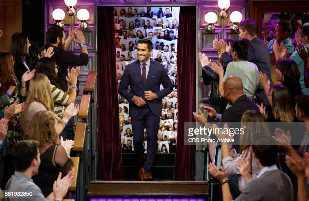 Mark Consuelos greets the audience during 'The Late Late Show with James Corden' Tuesday October 10 2017 On The CBS Television Network