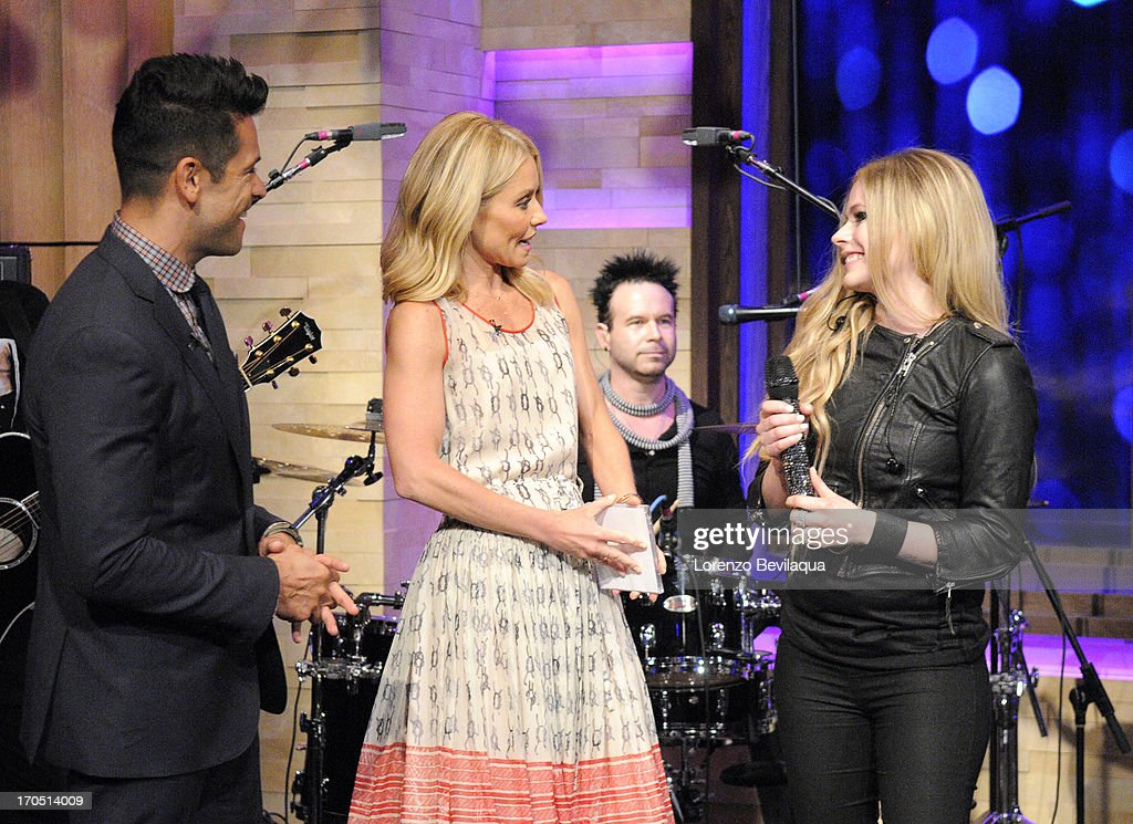 MICHAEL -6/14/13 - Mark Consuelos is Kelly's co-host and Avril Lavigne performs on 'LIVE with Kelly and Michael,' distributed by Disney-ABC Domestic Television. MARK