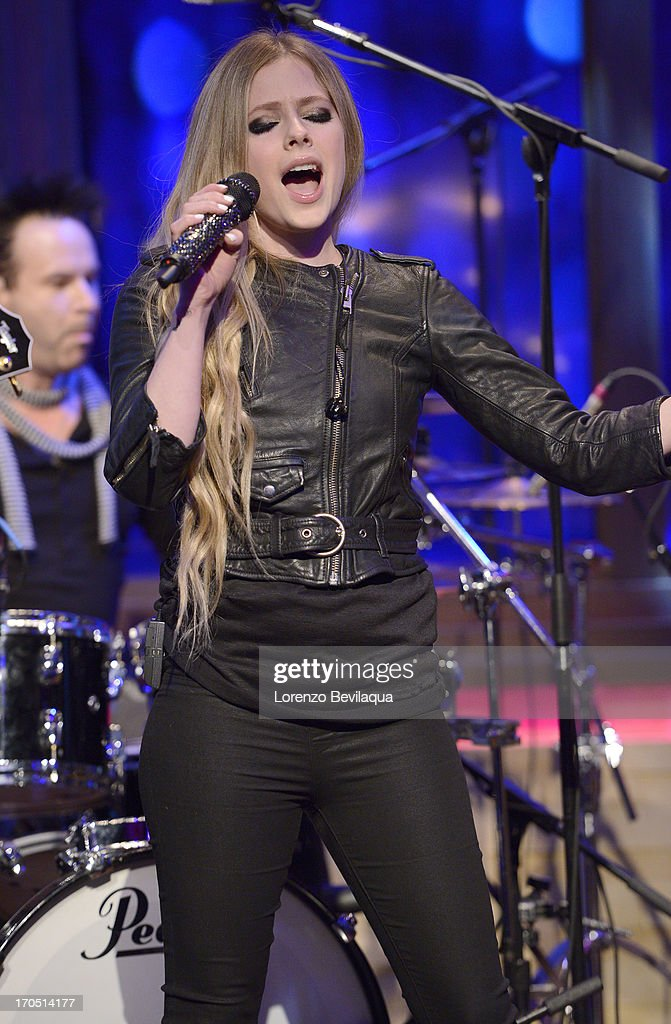 MICHAEL -6/14/13 - Mark Consuelos is Kelly's co-host and Avril Lavigne performs on 'LIVE with Kelly and Michael,' distributed by Disney-ABC Domestic Television. LAVIGNE