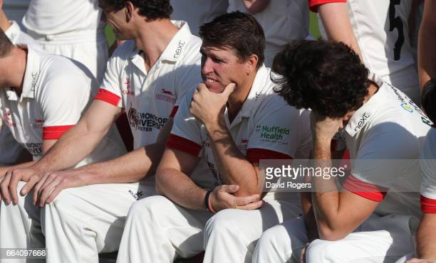Mark Cosgrove looks on during the Leicestershire County Cricket photocall held at Grace Road on April 3 2017 in Leicester England