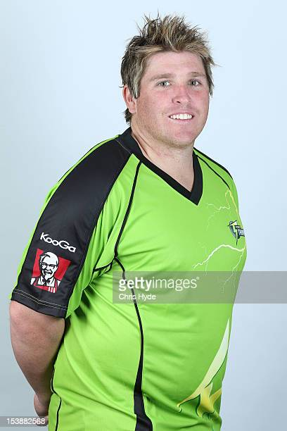 Mark Cosgrove of the Sydney Thunder poses during the 2012/13 T20 Big Bash League headshots session on September 3 2012 in Brisbane Australia