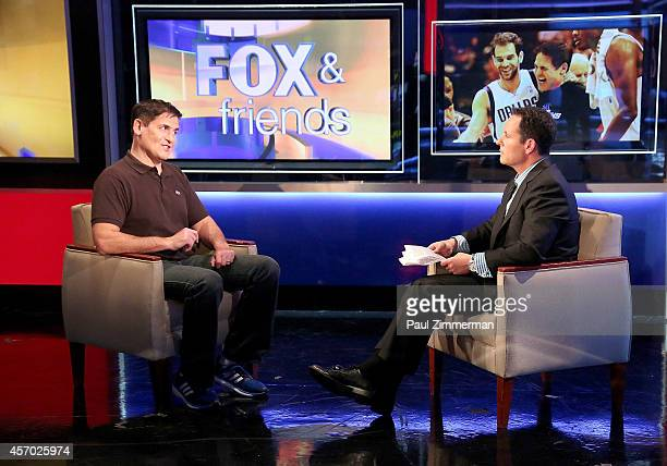 Mark Cuban and Brian Kilmeade visit 'FOX Friends' at FOX Studios on October 9 2014 in New York City The episode will air on Monday October 13 2014