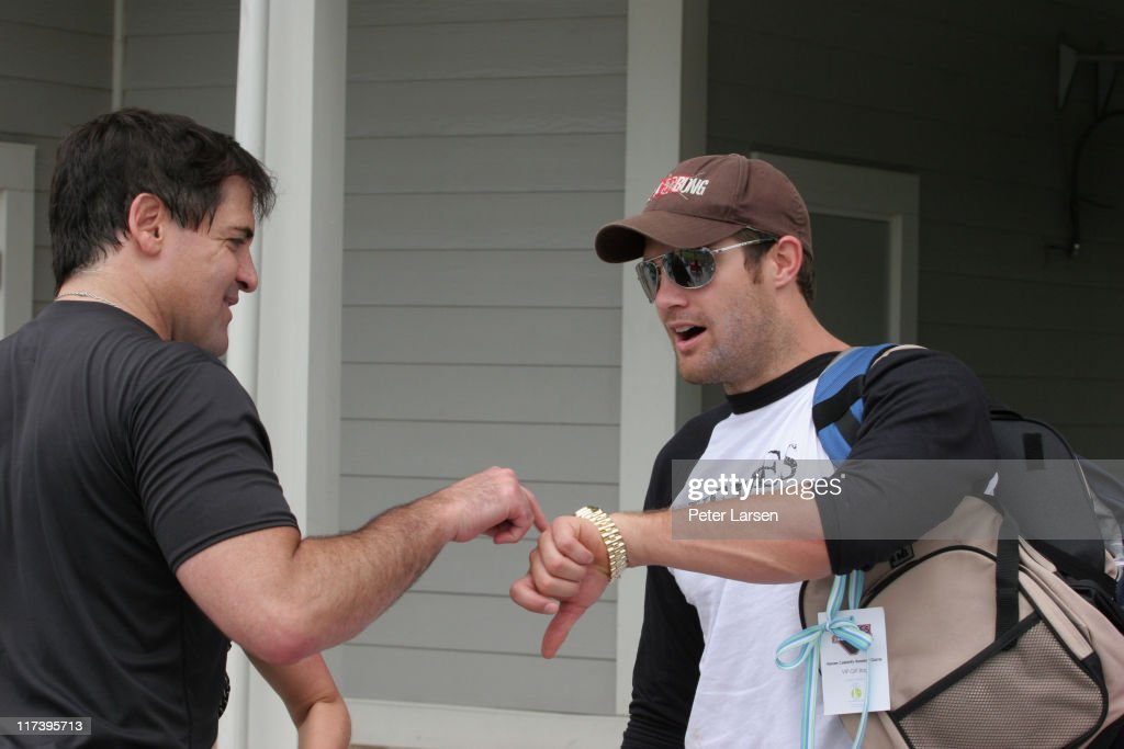 Mark Cuban and Geoff Stults during Klein Creative Communications Provides Gift Bags at the 2006 Reebok Heroes Celebrity Baseball Game at Dr Pepper...