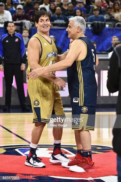 Mark Cuban and Marc Lasry attend the 2017 NBA AllStar Celebrity Game at MercedesBenz Superdome on February 17 2017 in New Orleans Louisiana