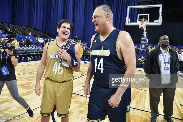 Mark Cuban and Oscar Schmidt attend the 2017 NBA AllStar Celebrity Game at MercedesBenz Superdome on February 17 2017 in New Orleans Louisiana