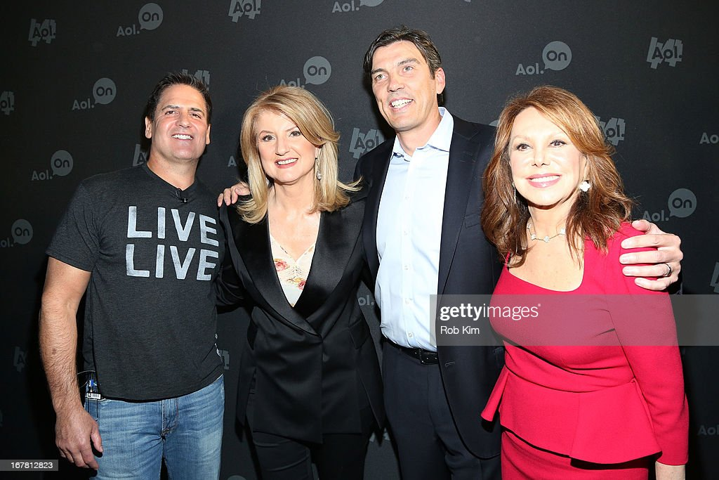 Mark Cuban, Arianna Huffington, AOL CEO Tim Armstrong and Marlo Thomas attend the AOL 2013 Digital Content NewFront on April 30, 2013 in New York City.