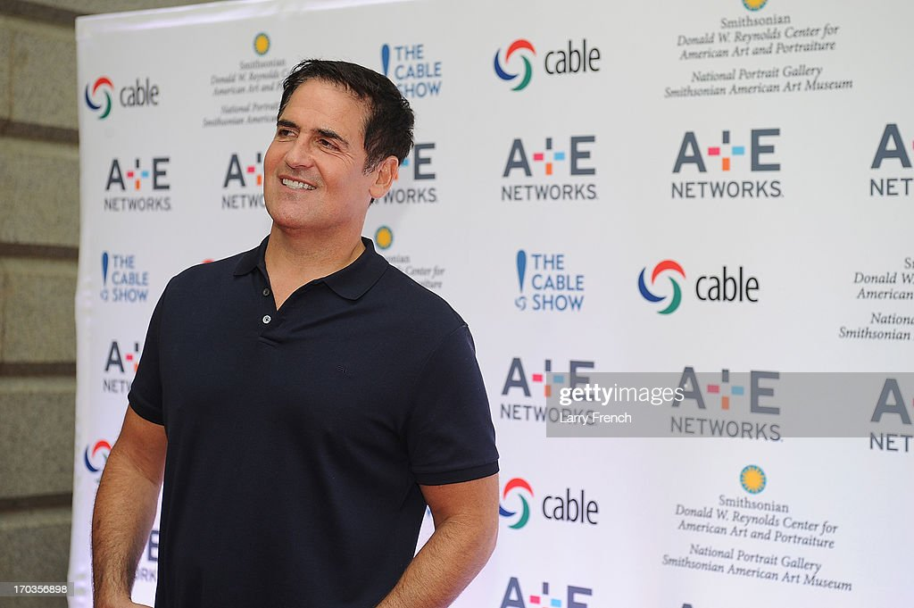 <a gi-track='captionPersonalityLinkClicked' href=/galleries/search?phrase=Mark+Cuban&family=editorial&specificpeople=203295 ng-click='$event.stopPropagation()'>Mark Cuban</a> attends the A+E hosted NCTA Chairman's Reception at the Smithsonian American Art Museum & National Portrait Gallery on June 11, 2013 in Washington, DC.