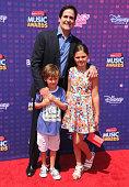 Mark Cuban kids Jake Cuban and Alyssa Cuban arrive at the 2016 Radio Disney Music Awards at Microsoft Theater on April 30 2016 in Los Angeles...