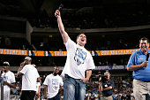 Mark Cuban owner of the Dallas Mavericks speaks to the crowd during the Mavericks NBA Champion Victory Parade on June 16 2011 at the American...