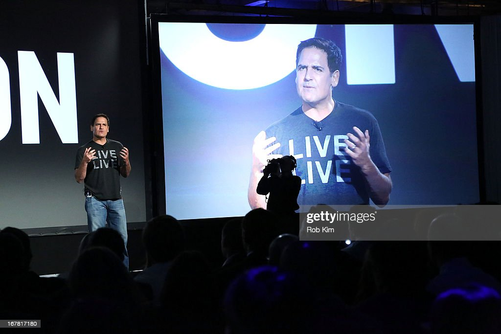 Mark Cuban speaks onstage at the AOL 2013 Digital Content NewFront on April 30, 2013 in New York City.