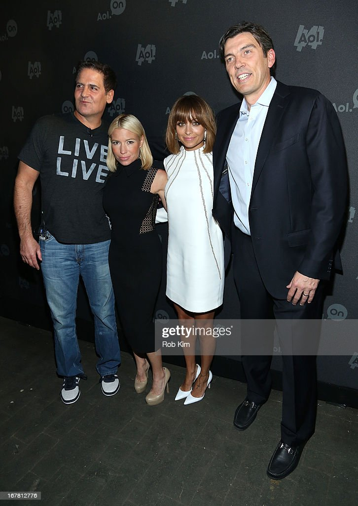 Mark Cuban, Tracy Anderson, Nicole Richie and AOL CEO Tim Armstrong attend the AOL 2013 Digital Content NewFront on April 30, 2013 in New York City.
