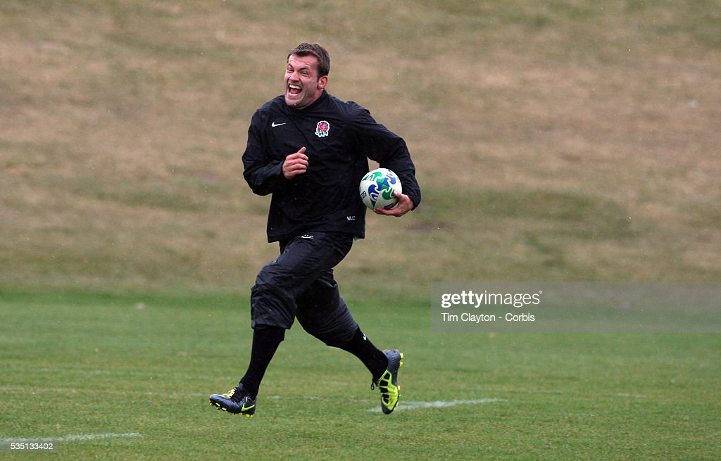 Mark Cueto during the English Rugby team training session at the Queenstown Events Centre in preparation for their match with Georgia during the IRB...
