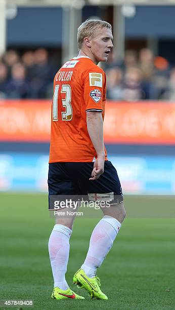 Mark Cullen of Luton Town in action during the Sky Bet League Two match between Luton Town and Northampton Town at Kenilworth Road on October 25 2014...