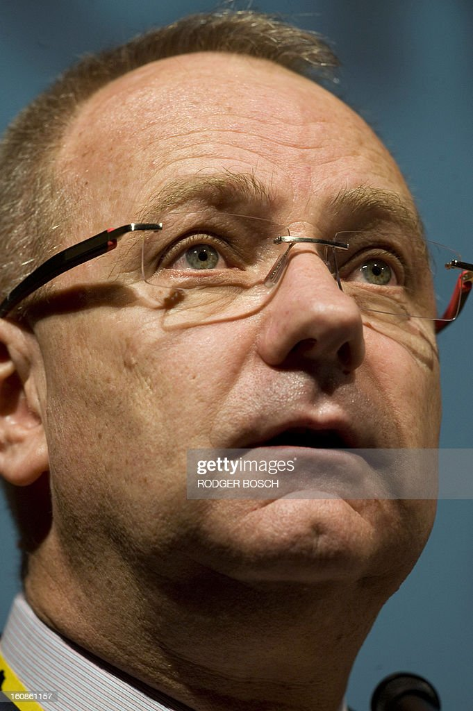 Mark Cutifani, CEO of Anglogold Ashanti, and Anglo American CEO designate, speaks at the 19th Annual Investing in African Indaba on February 07, 2012 at the Cape Town International Convention Centre. This event, which is Africa's largest mining conference, attracts more than 7000 delegates from more than 100 countries, and is focused on channeling investment into African mining. Cutifani takes over from current Anglo CEO, Cynthia Carroll, in April 2013. BOSCH