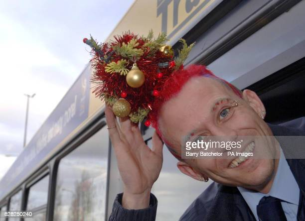 Mark Davis from Pontypool a South Wales bus driver who has spruced himself up for Christmas by having a mini fir tree woven into his hair Monday 5...