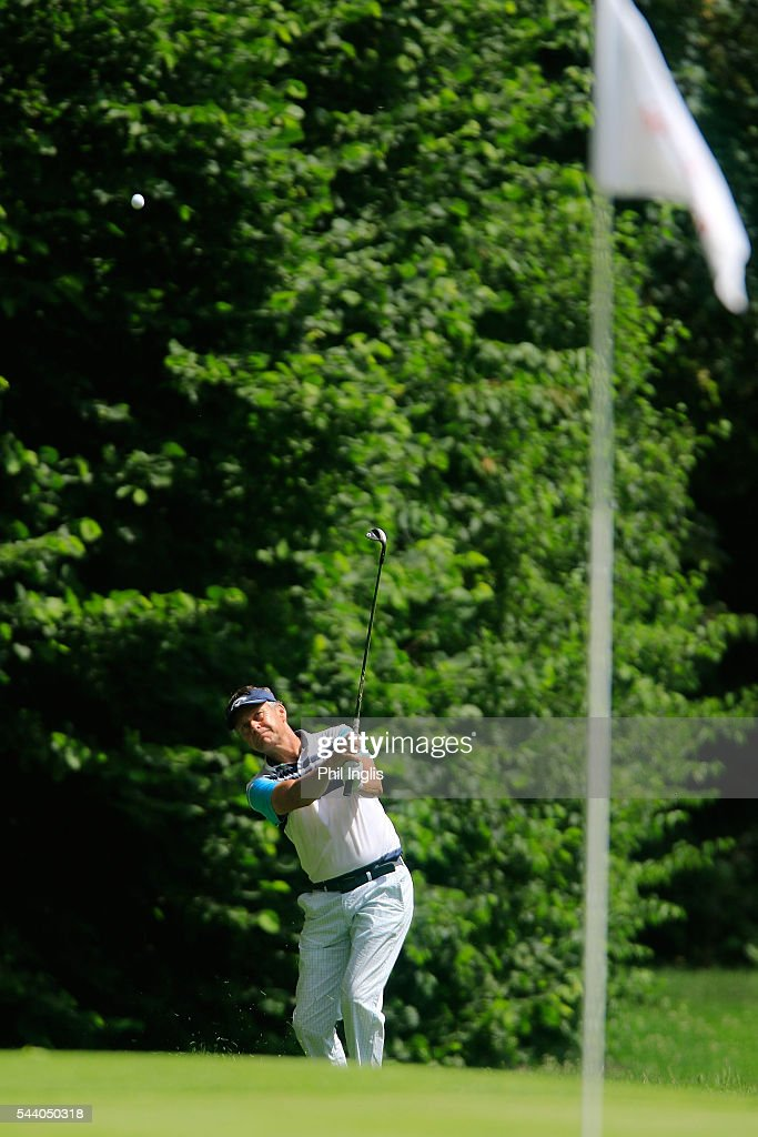 Mark Davis of England in action during the the first round of the Swiss Seniors Open played at Golf Club Bad Ragaz on July 1, 2016 in Bad Ragaz, Switzerland.