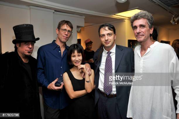 Mark DeMaio Scott Sargent Jahee Sargent Edward Straka and Tim Shaw attend Opening Reception for MARK DeMAIO's 'Absurd Notions' at Synchronicity Space...