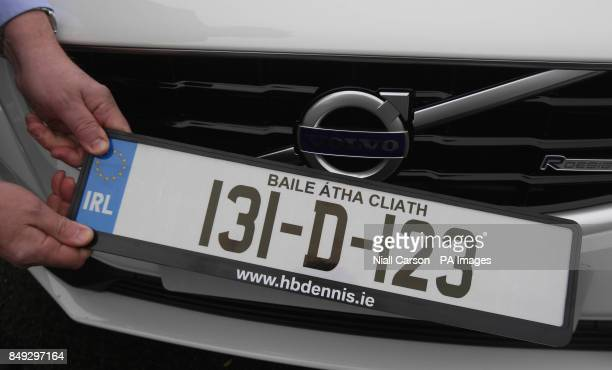 Mark Dennis from HB Dennis leasing in Dublin holds one of the first 131 number plates which came into operation on New Year's day