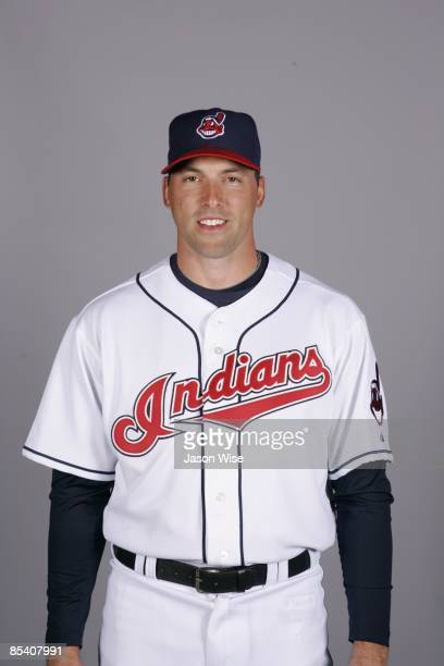 Mark DeRosa of the Cleveland Indians poses during Photo Day on Saturday February 21 2009 at Goodyear Ballpark in Goodyear Arizona