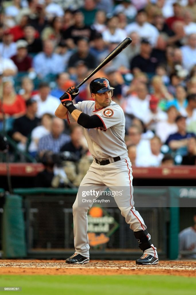 <a gi-track='captionPersonalityLinkClicked' href=/galleries/search?phrase=Mark+DeRosa&family=editorial&specificpeople=228401 ng-click='$event.stopPropagation()'>Mark DeRosa</a> #7 of the San Francisco Giants bats against the Houston Astros on Opening Day at Minute Maid Park on April 5, 2010 in Houston, Texas.