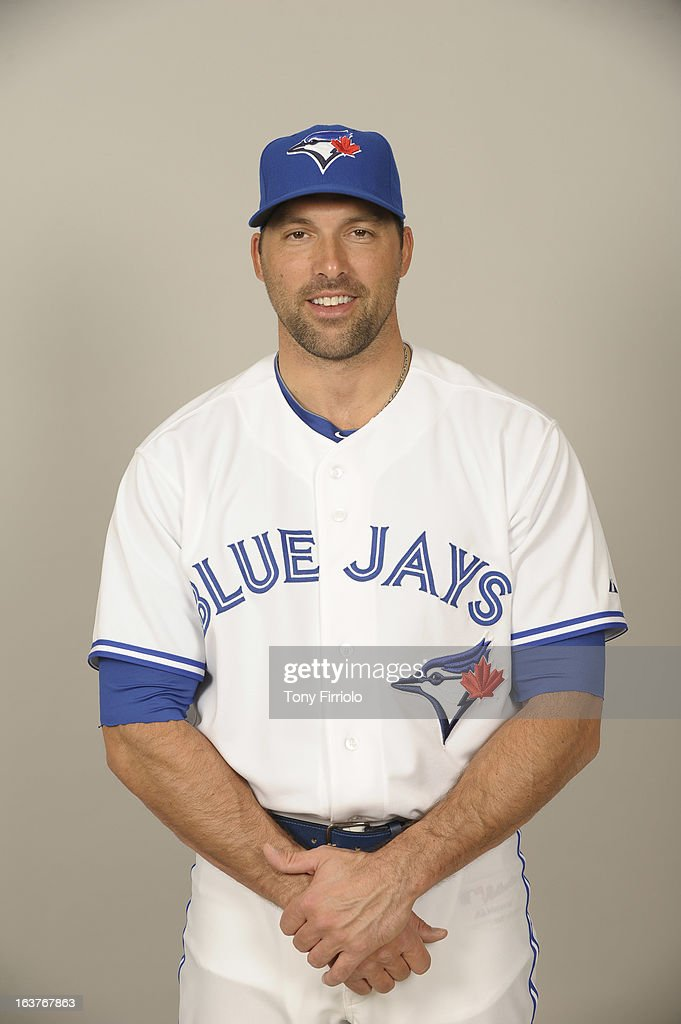 <a gi-track='captionPersonalityLinkClicked' href=/galleries/search?phrase=Mark+DeRosa&family=editorial&specificpeople=228401 ng-click='$event.stopPropagation()'>Mark DeRosa</a> #35 of the Toronto Blue Jays poses during Photo Day on February 18, 2013 at Florida Auto Exchange Stadium in Dunedin, Florida.