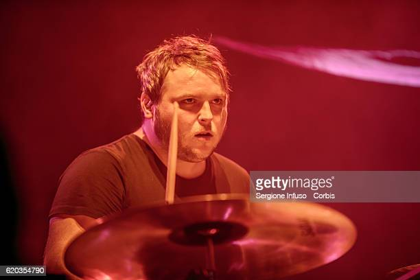 Mark Devine of Scottish postpunk indie rock band The Twilight Sad opens the concert of English rock band The Cure on November 1 2016 in Milan Italy