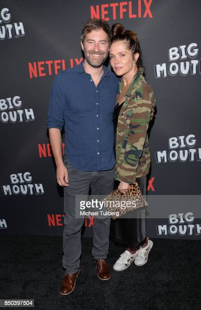 Mark Duplass and Kate Aselton arrive at the premiere of Netflix's 'Big Mouth' at Break Room 86 on September 20 2017 in Los Angeles California