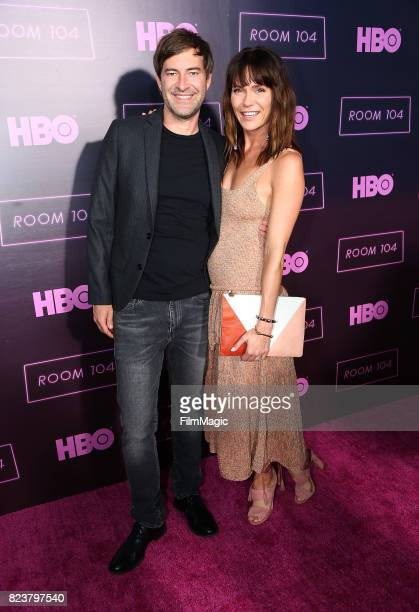 Mark Duplass and Katie Aselton attend HBO 'Room 104' Premiere at Hollywood Forever on July 27 2017 in Hollywood California