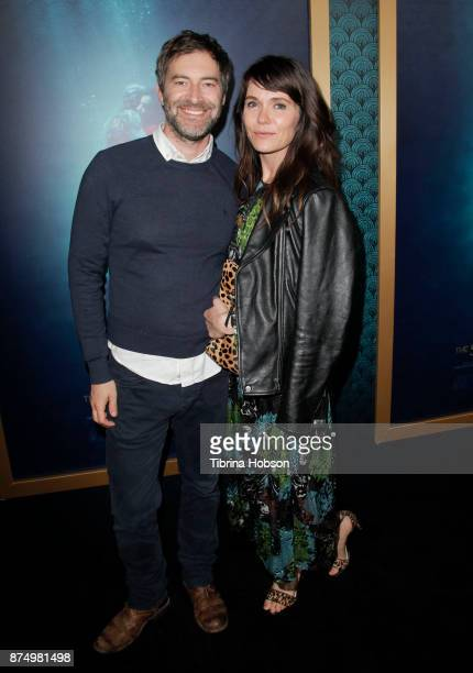 Mark Duplass and Katie Aselton attend the premiere of 'The Shape Of Water' at Academy Of Motion Picture Arts And Sciences on November 15 2017 in Los...