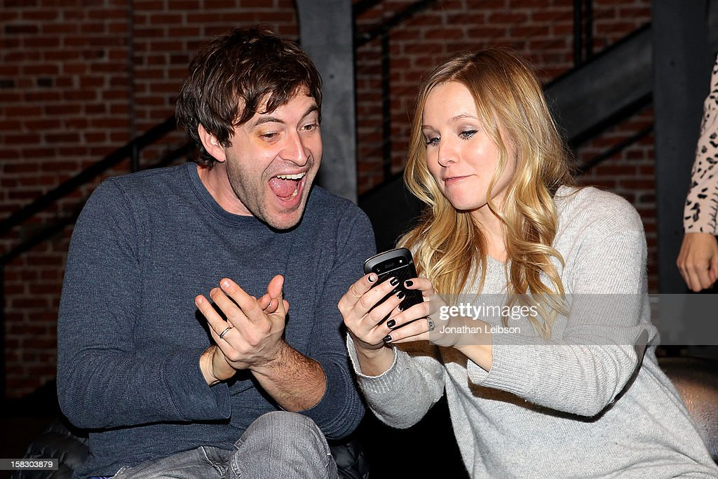 Mark Duplass and Kristen Bell attend The Sundance Institute Feature Film Program Screenplay Reading Of 'Life Partners' by lab fellows Susana Fogel and Joni Lefkowitz at Actors' Gang at the Ivy Substation on December 12, 2012 in Culver City, California.