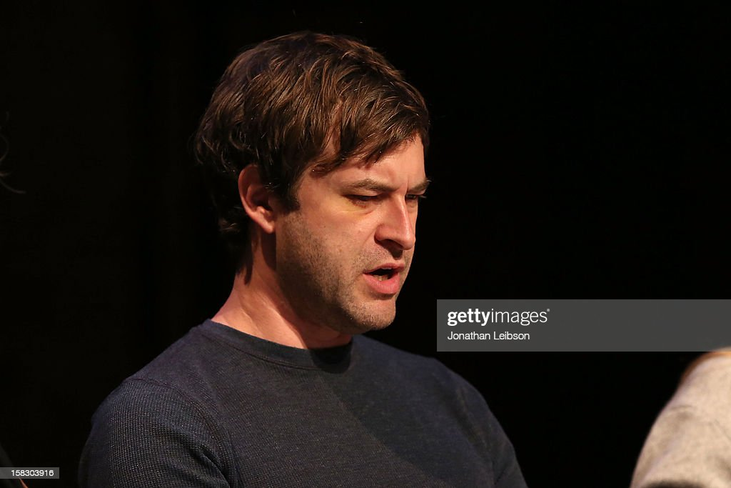 <a gi-track='captionPersonalityLinkClicked' href=/galleries/search?phrase=Mark+Duplass&family=editorial&specificpeople=572703 ng-click='$event.stopPropagation()'>Mark Duplass</a> attends The Sundance Institute Feature Film Program Screenplay Reading Of 'Life Partners' by lab fellows Susana Fogel and Joni Lefkowitz at Actors' Gang at the Ivy Substation on December 12, 2012 in Culver City, California.