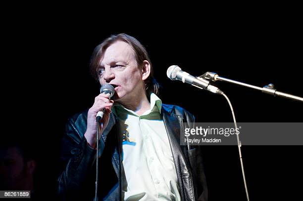 Mark E Smith of The Fall performs on stage at The Electric Ballroom at The Camden Crawl on April 25 2009 in London England