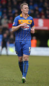 Mark Ellis of Shrewsbury Town in action during the Sky Bet League Two match between Shrewsbury Town and Northampton Town at Greenhous Meadow on...