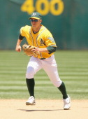 Mark Ellis of the Oakland Athletics in action against the New York Yankees at OaklandAlameda County Coliseum on June 1 2011 in Oakland California