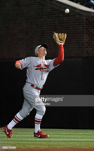 Mark Ellis of the St Louis Cardinals plays against the Chicago Cubs on May 4 2014 at Wrigley Field in Chicago Illinois