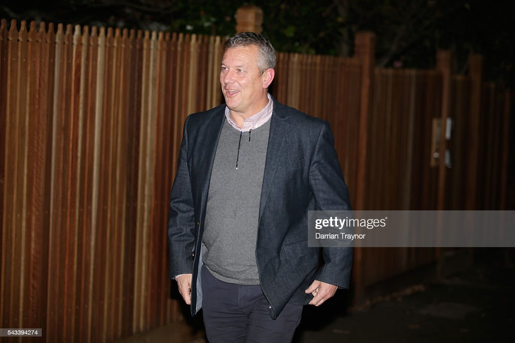 Mark Evans, General Manager, Football Operations arrives for an AFL coaches dinner hosted by AFL CEO Gillon McLachlan at his Melbourne home on June 28, 2016 in Melbourne, Australia.