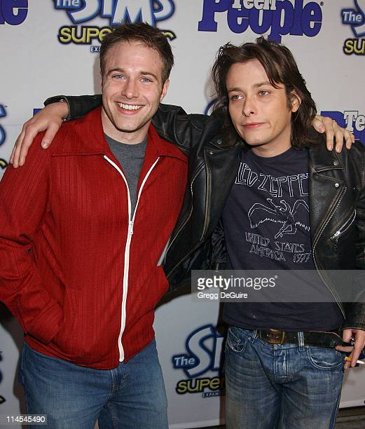 Mark Famiglietti of 'T3' Edward Furlong of 'T2' during Teen People Celebrates The 6th Annual '25 Hottest Stars Under 25' at Lucky Strike Lanes in...